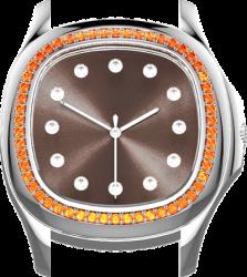 Saphir orange (IF-VS)